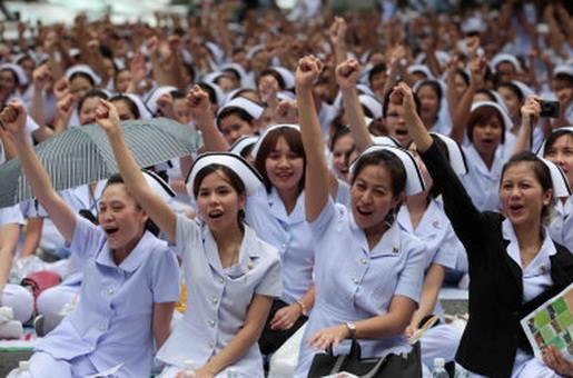 Thai Nurses Call for Law Protection