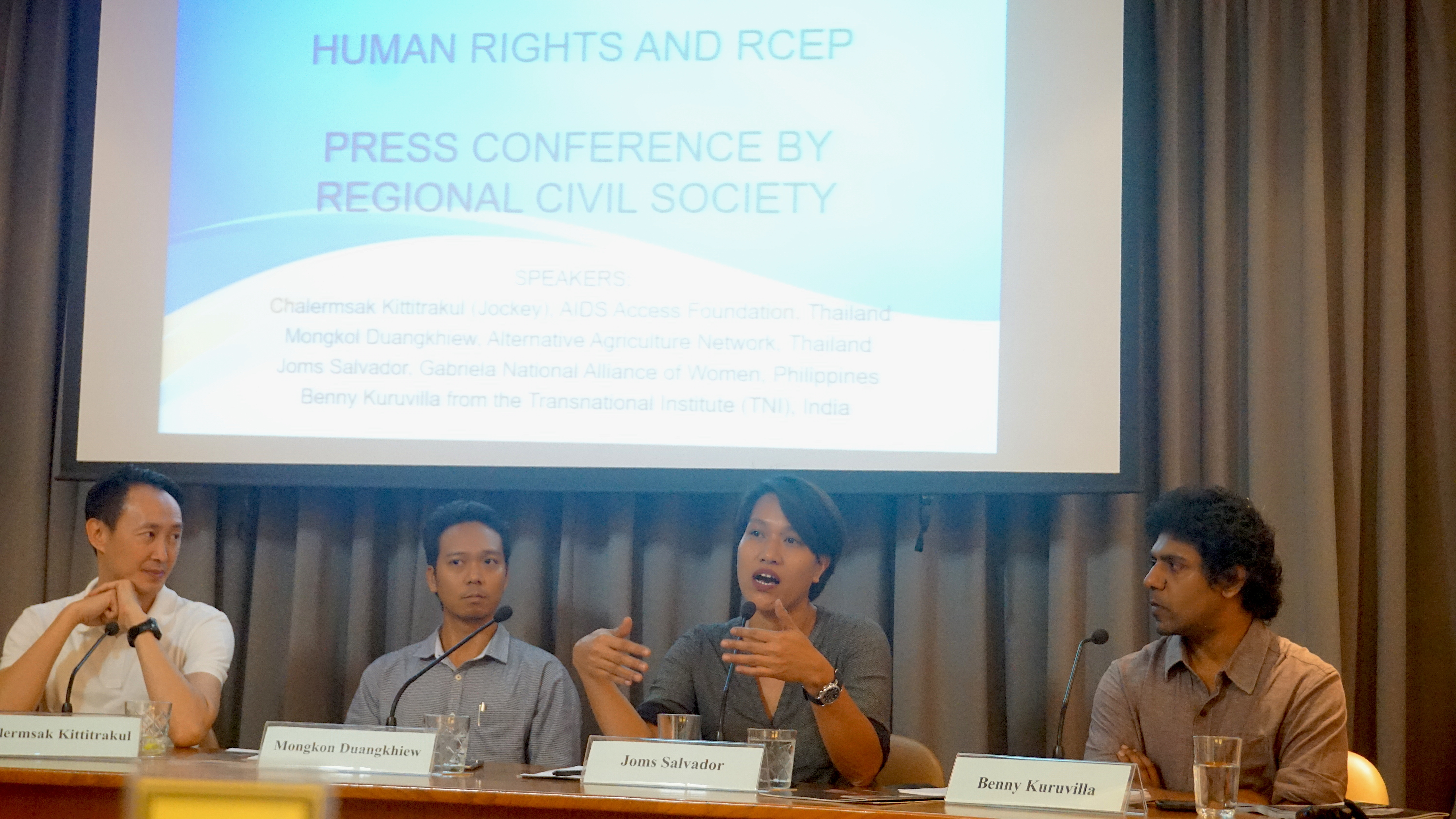 People's movements reject RCEP - Call for parliamentary scrutiny of mega trade deal
